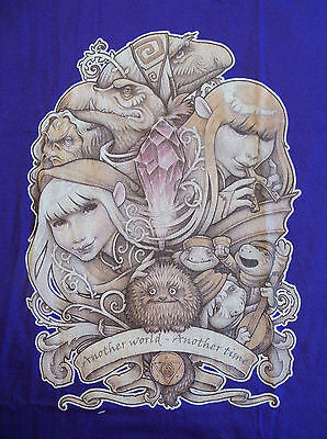 TeeFury T-Shirt Graphic Tee - Dark Crystal In Another World - New Adult M Purple