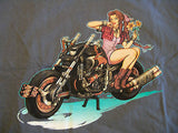 TeeFury T-Shirt - Pin-Up Final Fantasy VII - Motorcycle - New - Adult XL