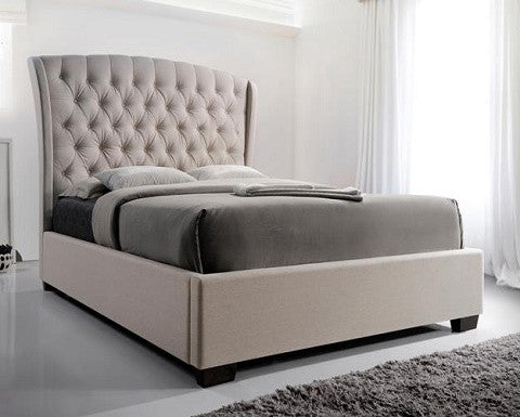 BEIGE PLATFORM BED #5276 CR
