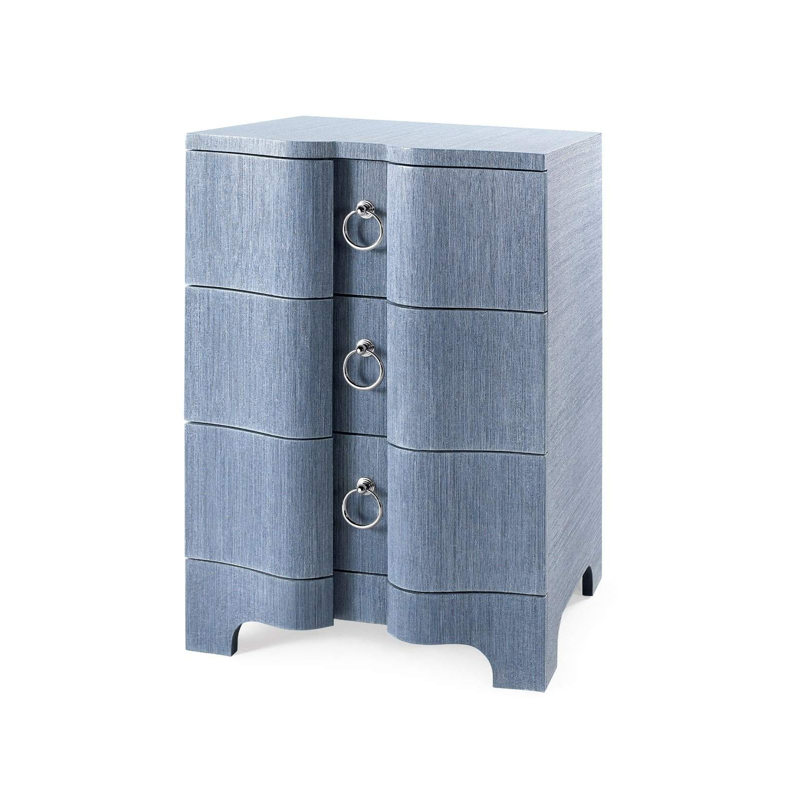 Bungalow 5 - BARDOT 3-DRAWER SIDE TABLE in NAVY BLUE