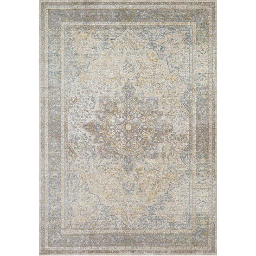 Joanna Gaines Magnolia Home Rug - Ella Rose Collection -Stone / Blue