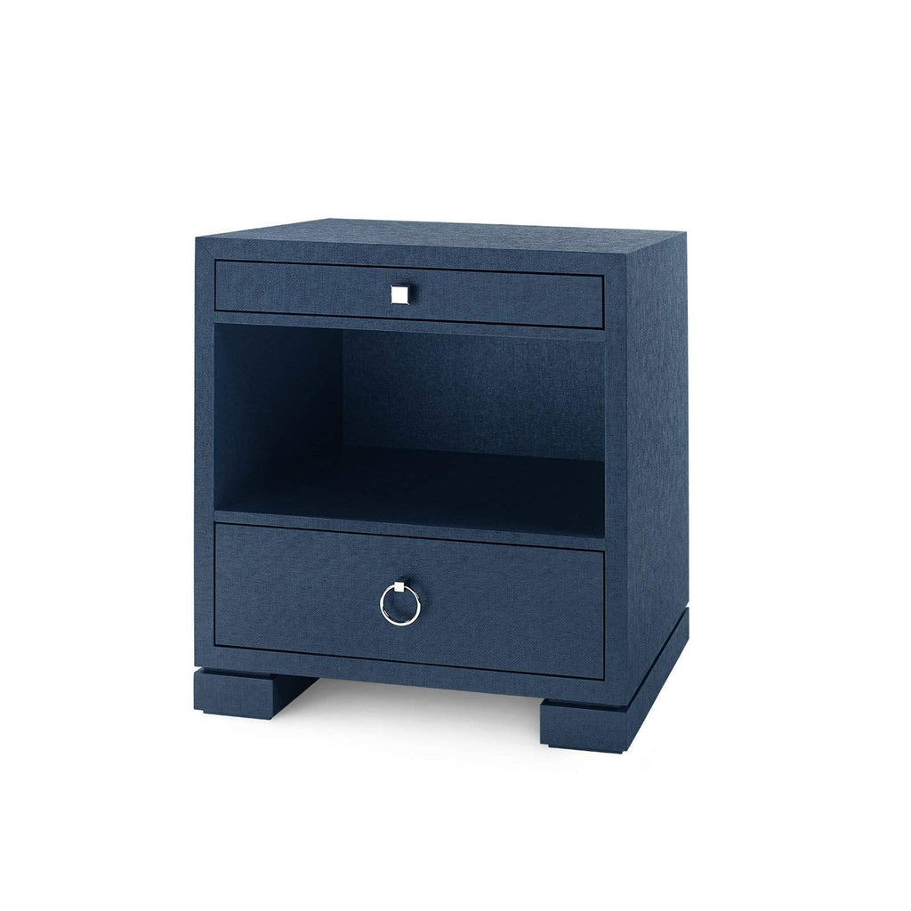 Bungalow 5 - FRANCES 2-DRAWER SIDE TABLE in NAVY BLUE-Bungalow 5-Blue Hand Home