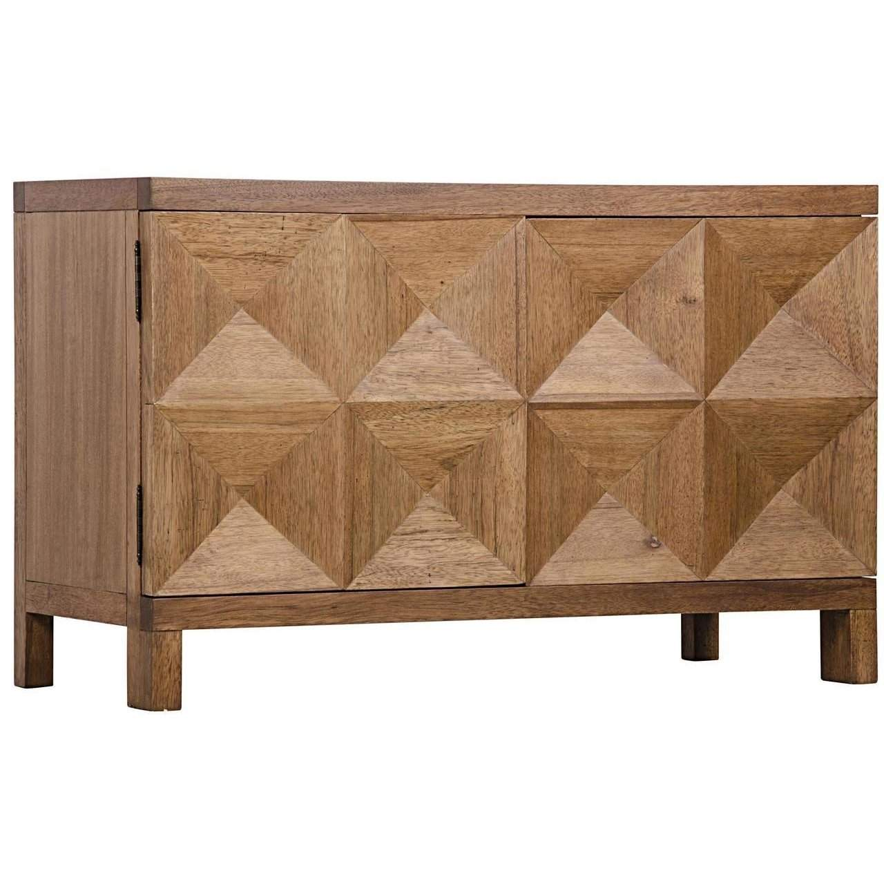 Noir QS Quadrant 2 Door Sideboard, Dark Walnut