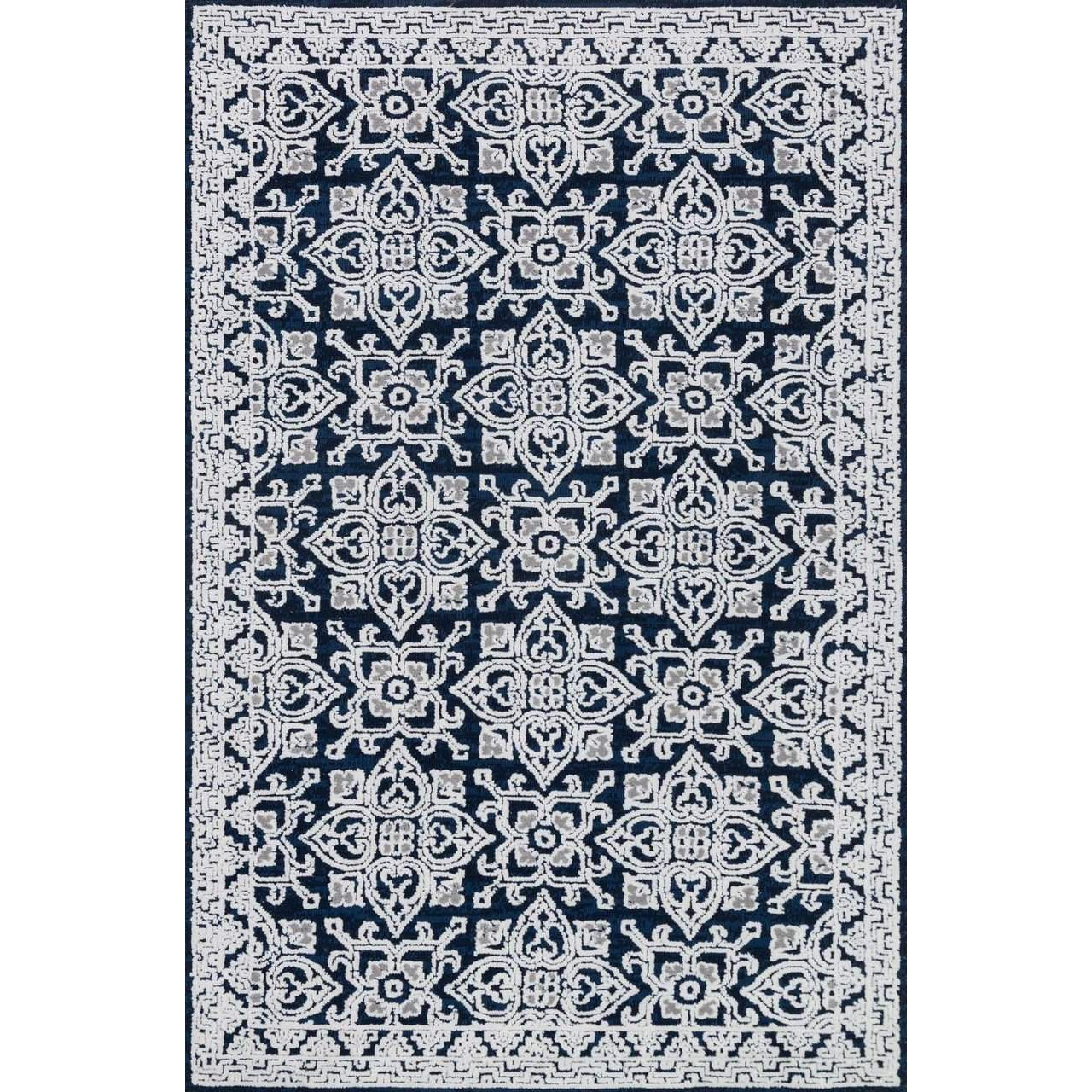 Joanna Gaines Of Magnolia Home Lotus Rug Collection - Midnight / Silver
