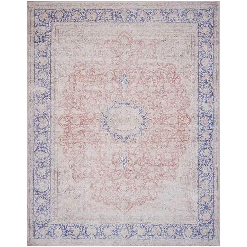 Joanna Gaines Lucca Rug Collection - LF-03 Terracotta/Blue