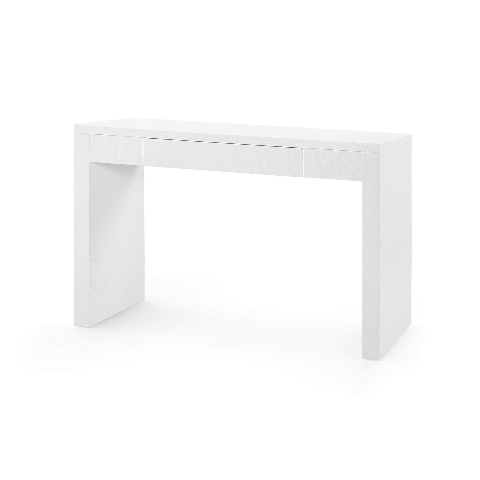 Bungalow 5 - MORGAN GRASSCLOTH CONSOLE TABLE in WHITE