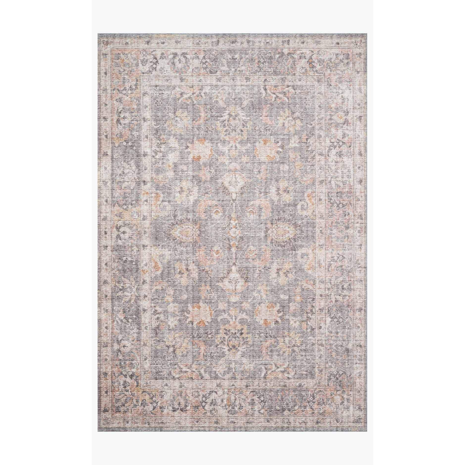 Skye Rug Collection by Loloi -Sky 01-Grey/Apricot