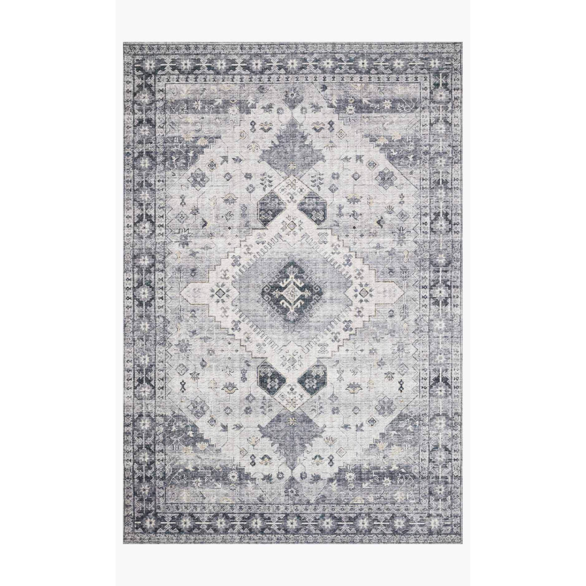 Skye Rug Collection by Loloi -Sky 02 Silver/Grey