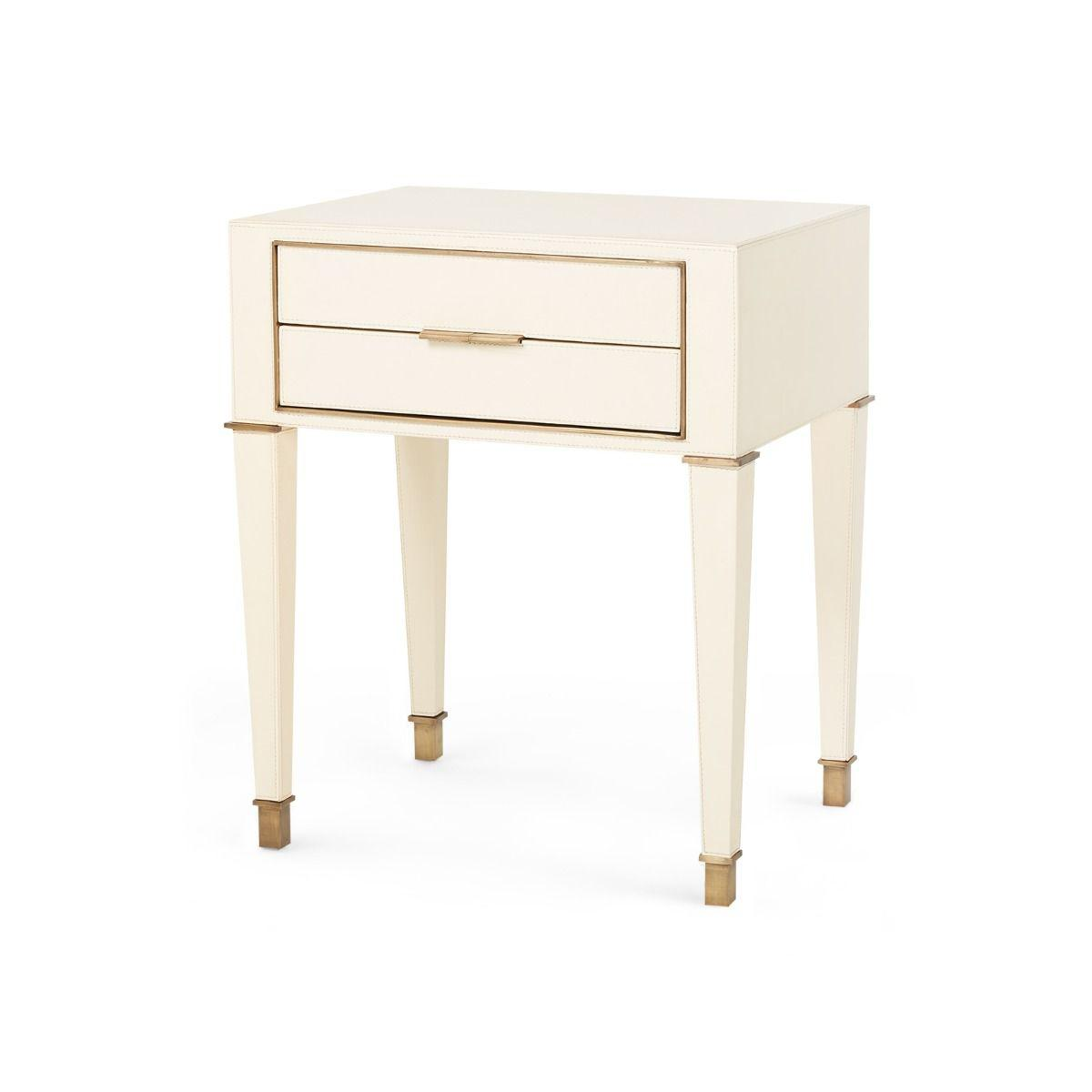 Bungalow 5 - Hunter 2-Drawer Side Table - Ivory