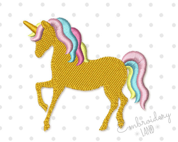Unicorn Small Embroidery Design AN052