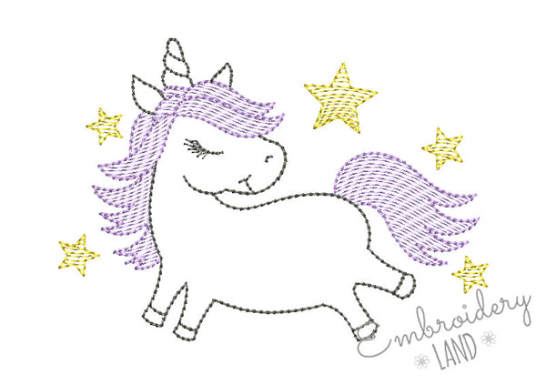 Unicorn Sketch AN061