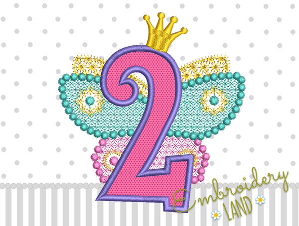 Fairy Number 2 Applique HB076