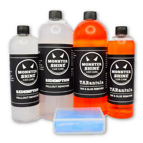 Decontamination Pack - Tar & Glue Remover, Fallout Remover & 100 gram Clay Bar - Monstershine Car  Care