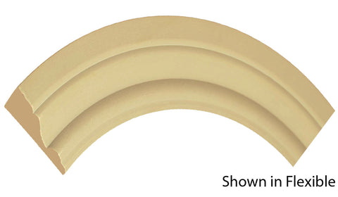"Profile view of a flexible MDF Casing molding, product number FRCA225 11/16"" x 2-3/4"" - $10.99/ft. sold by American Wood Moldings"