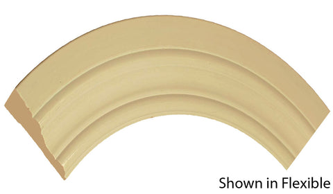 "Profile view of a flexible MDF Casing molding, product number FRCA310 11/16"" x 3"" - $9.48/ft. sold by American Wood Moldings"