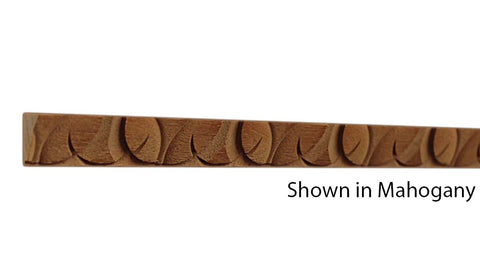 "Profile view of a decorative mahagony carved molding, product number MHDC150 5/8""x5/8"" Mahogany $3.08/ft. sold by American Wood Moldings"