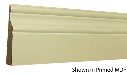 "Profile view of a MDF Base molding, product number PMBA420 5/8"" x 4-1/4"" - $0.92/ft. sold by American Wood Moldings"