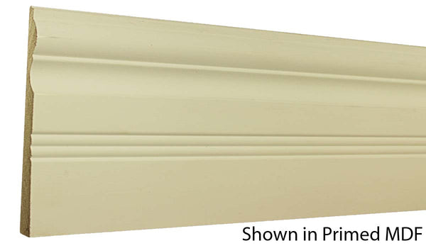 "Profile view of a MDF Base molding, product number PMBA610 5/8"" x 6-1/2"" - $1.36/ft. sold by American Wood Moldings"