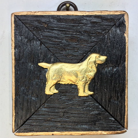 Bourbon Barrel Frame with Dog (3