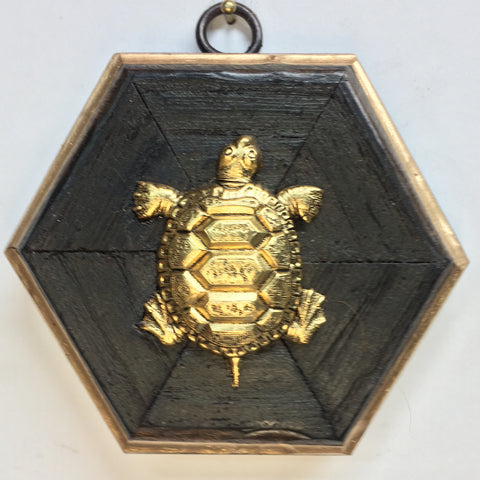 Bourbon Barrel Frame with Turtle (4