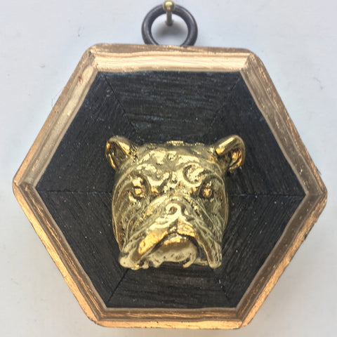 Bourbon Barrel Frame with Bulldog (3.25