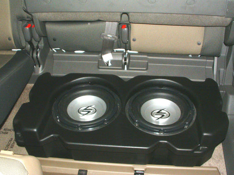 "Q Logic Q Customs QL-C1HRL210 Dual 10"" Subwoofer Enclosures Box"