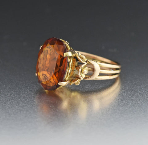 Romantic Vintage Garnet Buckle Ring