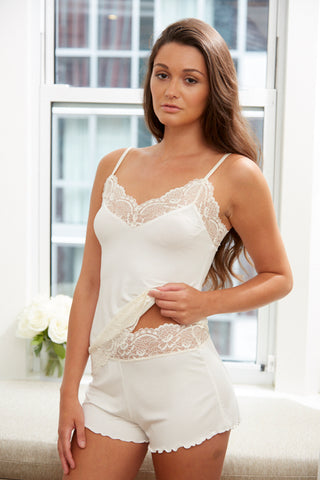 Samantha Chang Home Collection Camisole with Lace
