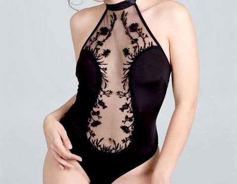 Thistle & Spire Mulberry Embroidered Bodysuit