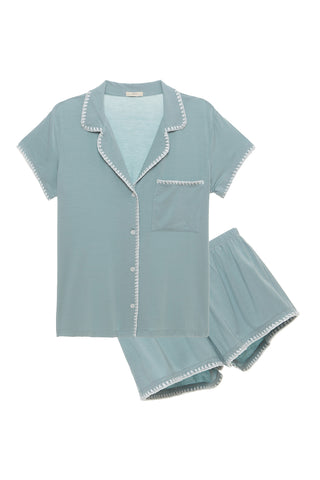 Eberjey Frida Whip Stitch Short Pajama Set