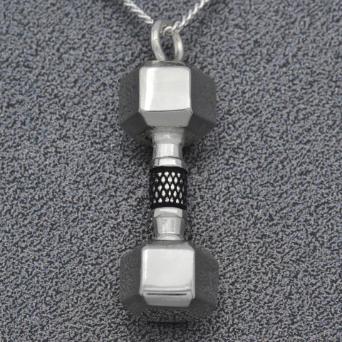 Dumbbell Weight Necklace