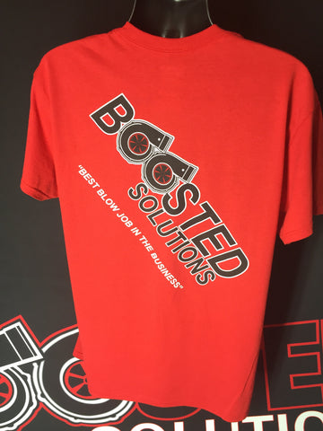 "Boosted Solutions Red T Shirt ""Best Blow Job in the Business"" FREE SHIPPING"