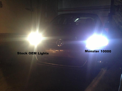 Monster Ultra Blue 10,000K Headlights No wiring Necessary