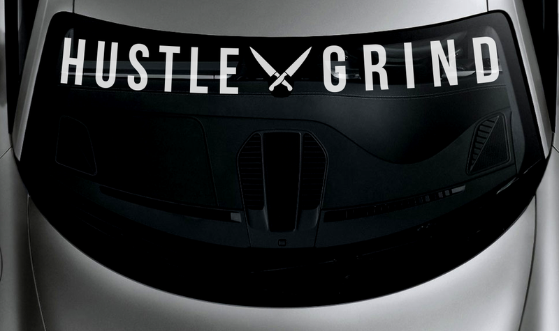 Hustle x Grind Windshield Banner