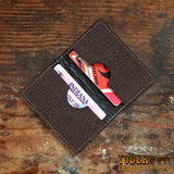 Brown Shark Leather Credit Card Wallet