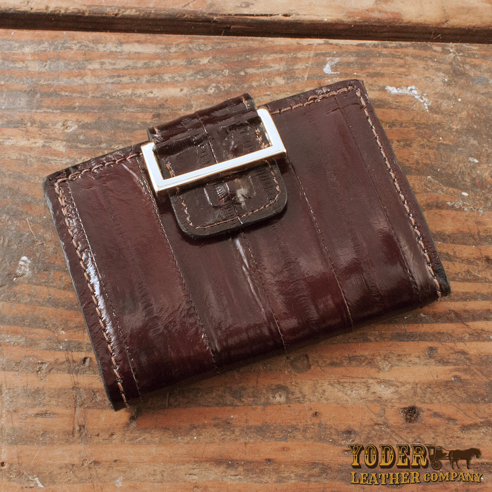 Brown Eel Skin Women's Wallet