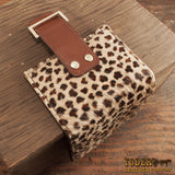 Hair On Leopard Print Leather Wallet
