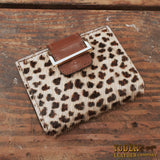 Furry Cheetah Women's Leather Wallet