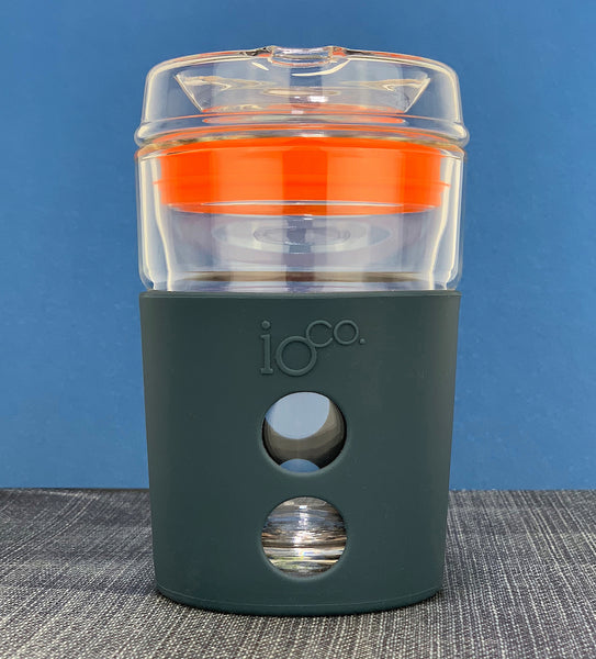 IOCO ALL GLASS 8oz Coffee Traveller - Midnight Blue