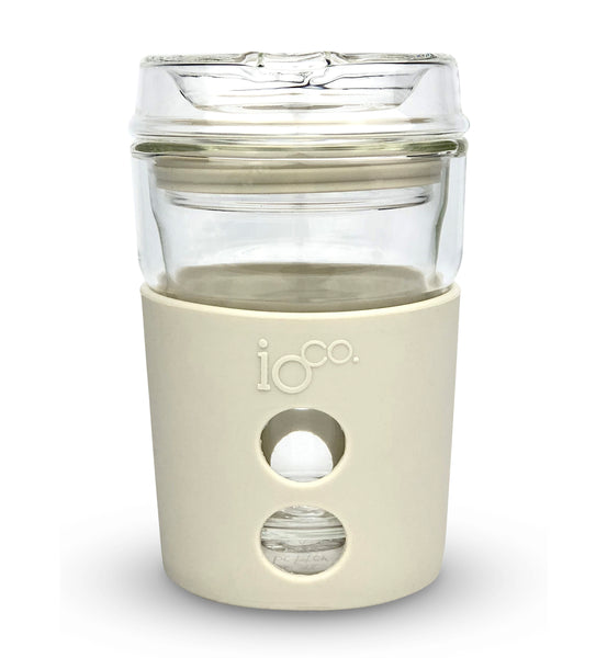 IOCO ALL GLASS 8oz Coffee Traveller - Sweet Marshmallow
