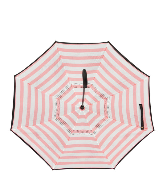 IOCO Reverse Umbrella in Red, White & Blue Stripe