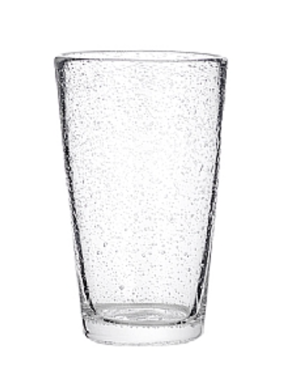 Broste Glass Bubble Tall Tumbler - Straight Clear