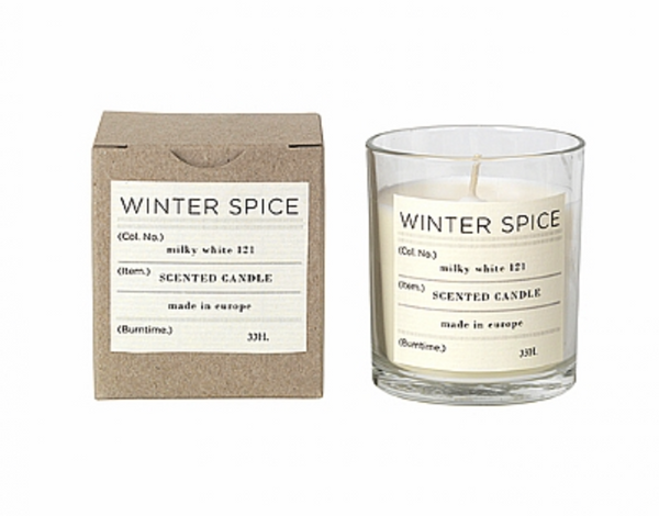 Broste Scented Candle Winter Spice Soy Wax in Glass