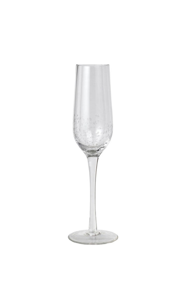 Clear elegant Broste champagne glass