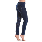 Freddy Wr.Up® Shaping Effect - Horse - Blue - Low Waist - Skinny