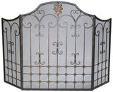 Ornate 3 Panel Fire Screen with Mesh Backing