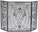 French Inspired 3 Panel Fire Screen with Mesh Backing