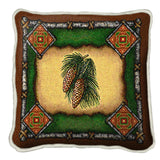 Pinecone Lodge Art Tapestry Pillow