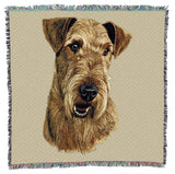 Airedale Terrier Dog Portrait Art Tapestry Lap Throw