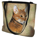 Abyssinian Cat Portrait Art Tapestry Tote Bag